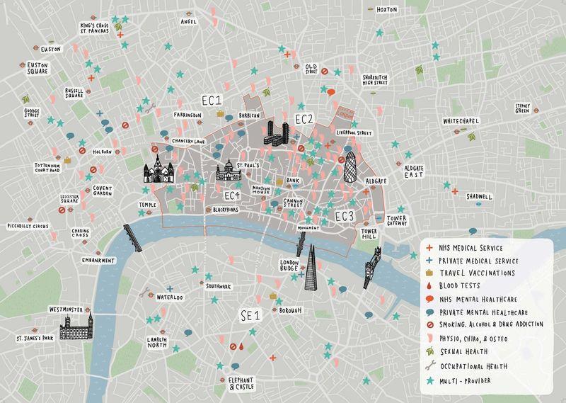 Health-City-of-London-map