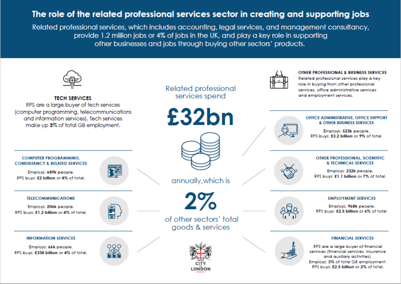 The role of the related professional services sector in creating and supporting jobs